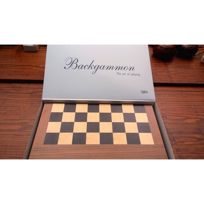 Backgammon &  chess  set with racks and  colored inlays