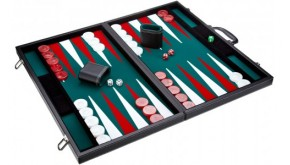 Leatherette backgammon board (green color)