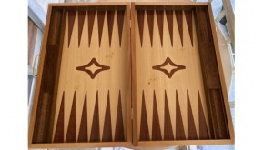 Backgammon with racks mahogany