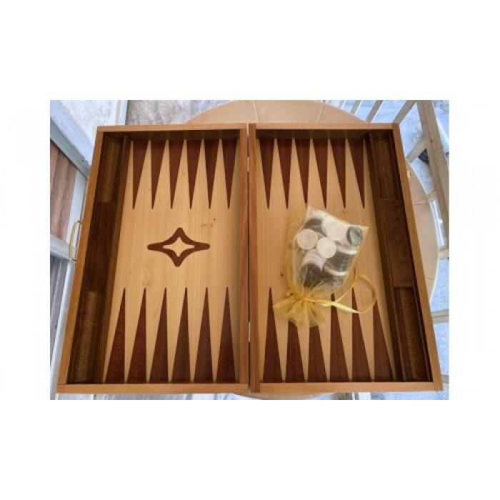 Backgammon with racks mahogany