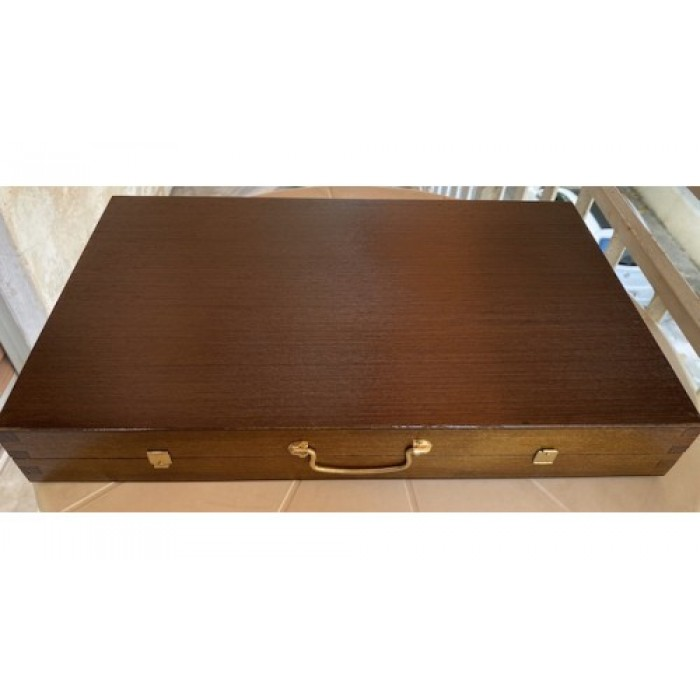Backgammon with racks polysander