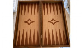 Palysander backgammon set