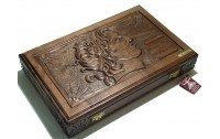 Carved  backgammon Alexander the Great