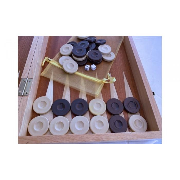 Backgammon checkers plastic