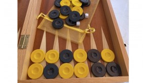 Backgammon checkers plastic