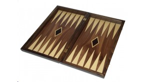Marqutee Backgammon set with colored inlays and flower marquete & deluxe Galalith  deluxe checkers