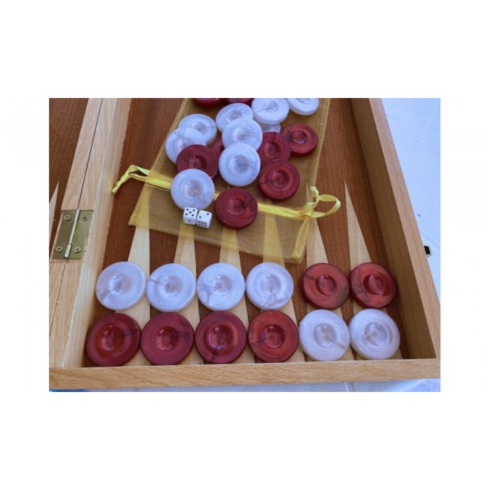 Backgammon checkers perl plastic
