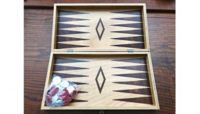 Pyrography backgammon set