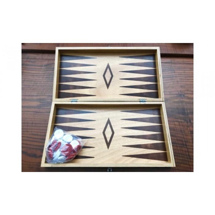 Pyrography backgammon set