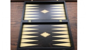 Ebony  backgammon set