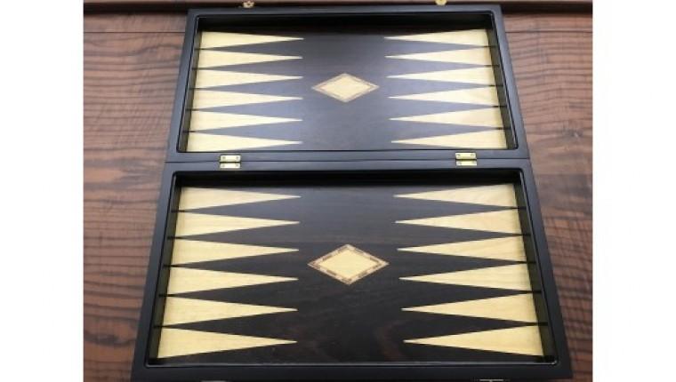 Ebony  backgammon set